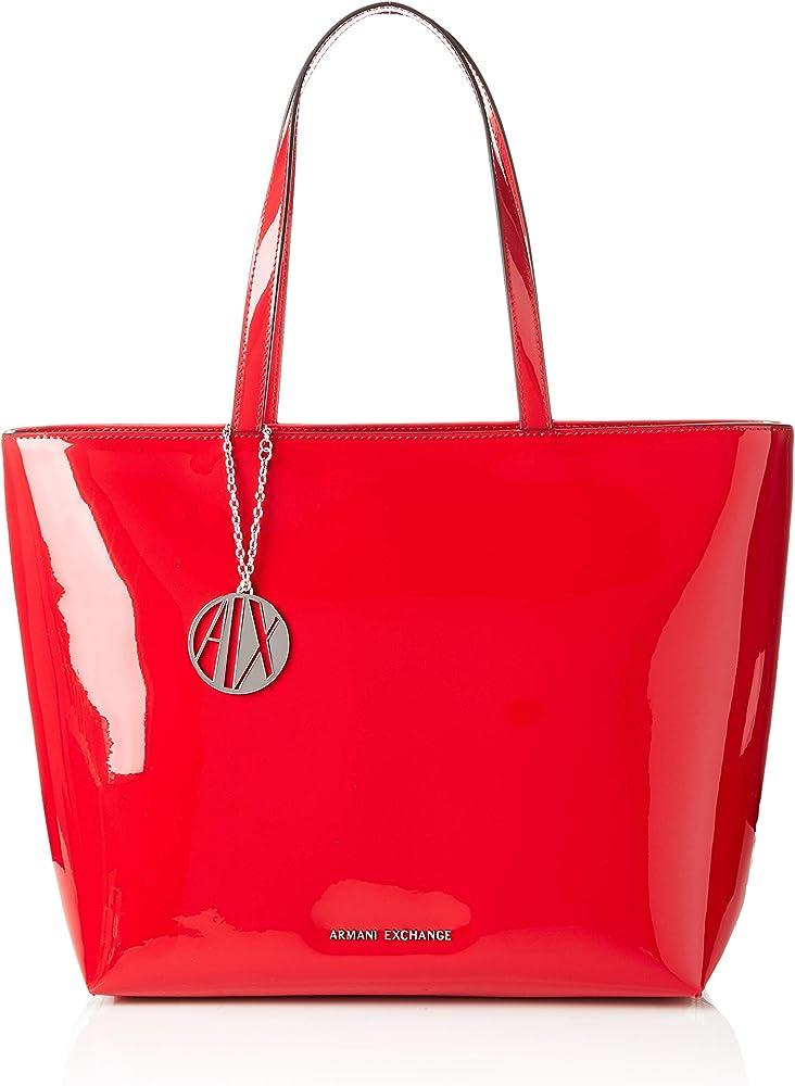 Emporio armani,  borsa shopping per donna , 80% poliestere, 20% viscosa 942426