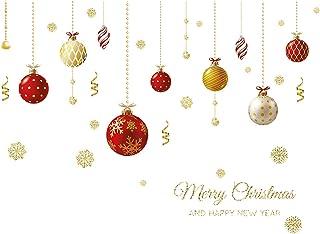 Woohooens PVC Pegatinas Electrostáticas para Fiesta Pegatinas De Navidad Arbol Pegatinas de Navidad Pared de la Navidad Et...