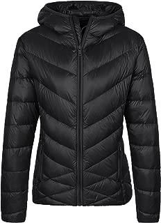 Women's Packable Puffer Down Jacket Hooded Light Windbreaker Outerwear