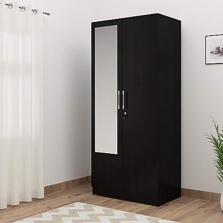 Spacewood Texas 2 Door Wardrobe (Woodpore Finish, Natural Wenge)