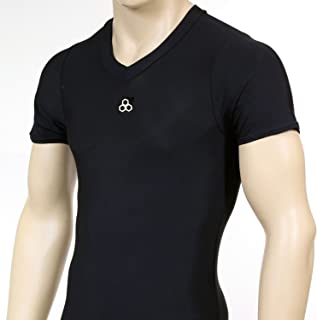 McDavid 883 V Classic Front Logo Men's Short Sleeve V Neck Shirt Black Large