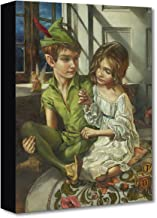Disney Fine Art Sewn to His Shadow by Heather Theurer Treasures on Canvas Peter Pan 16 Inches x 12 Inches Reproduction Gallery Wrapped Canvas Wall Art