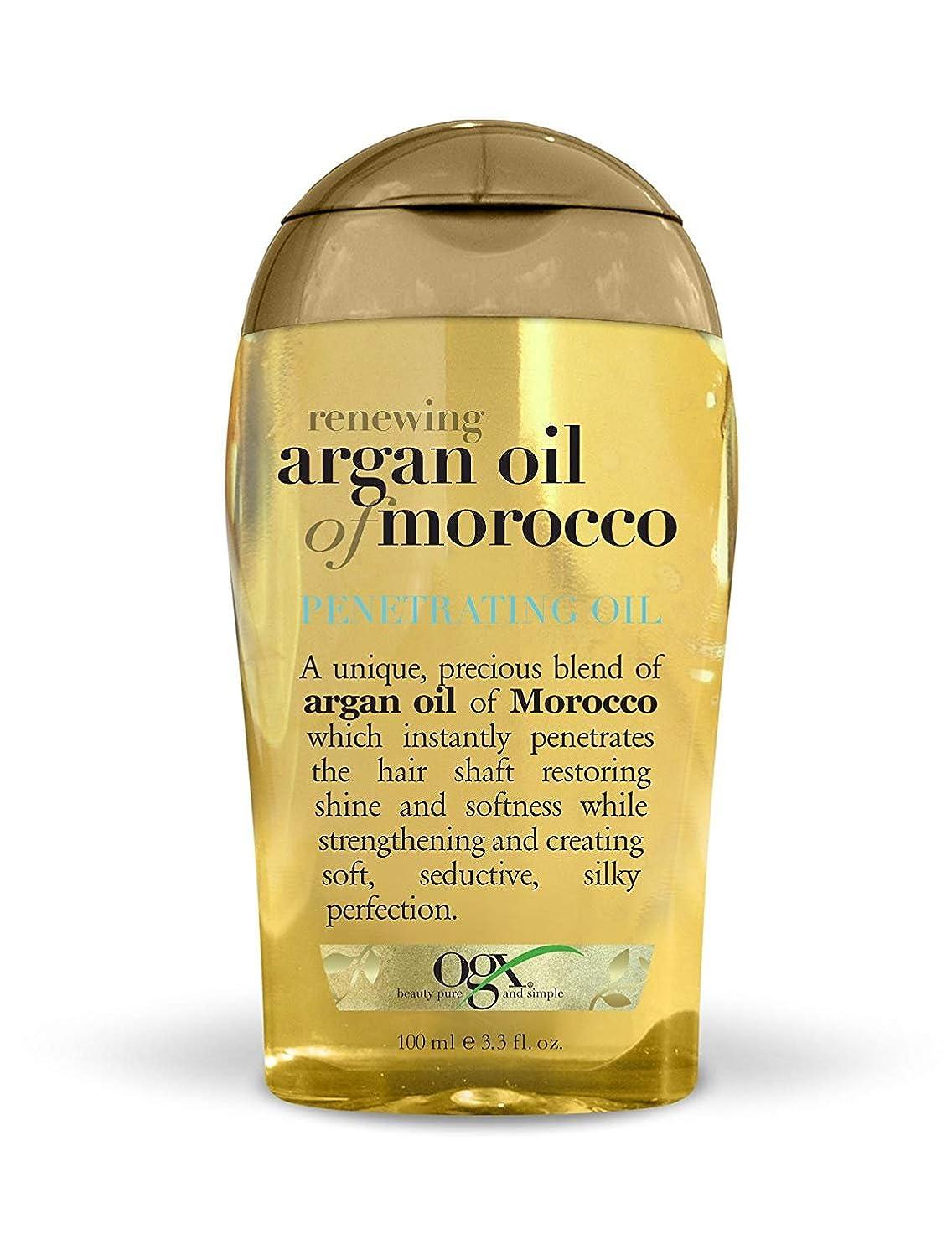 ホイスト機械的にペフOrganix Moroccan Argan Oil Penetrating Oil 100 ml x 3 パック (並行輸入品)