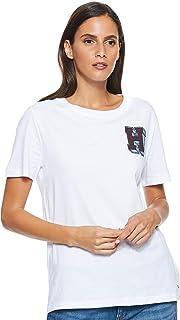 Tommy Hilfiger Women's Ww0Ww24308-White T-Shirts