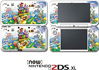 New Super Mario Bros 3D Land World Luigi Yoshi Video Game Vinyl Decal Skin Sticker Cover for Nintendo New 2DS XL System Console