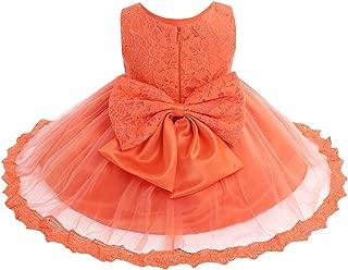 Babys Fille robe espagnole style Floral Nœud Rose Newborn 0-3 M 3-6 mois
