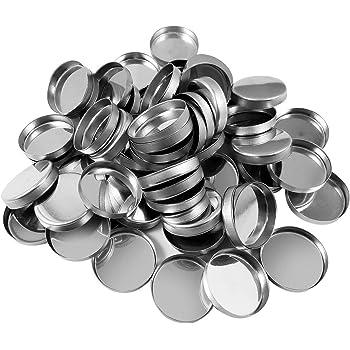 Allwon 56 Pack - Sartenes metálicas cuadradas vacías para la paleta de sombras de ojos Paleta de maquillaje magnético (26 mm): Amazon.es: Belleza