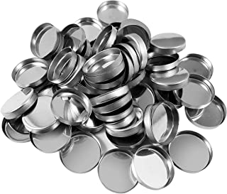 Allwon 56 Pack Empty Round Metal Pans Size 26mm for Eyeshadow Palette Magnetic Makeup Palette (Height 3.5 mm)
