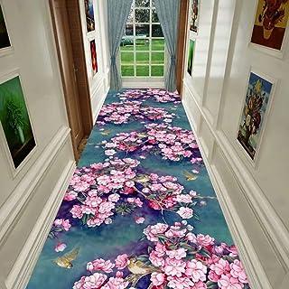 家具装飾敷物植物花コーヒーテーブル通路カーペット洗える廊下階段カーペット滑り止め滑り止めリビングルームフロアマットショートフラフ家庭用ストリップカーペット(色:Aサイズ:120 * 180 cm)