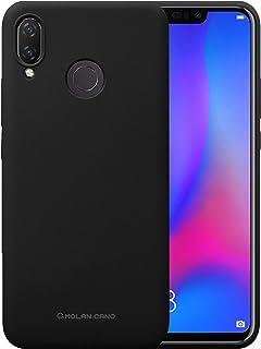 جراب خلفي ناعم من السيليكون غير اللامع ومرن لهاتف Huawei Nova 3 Molan Cano اسود