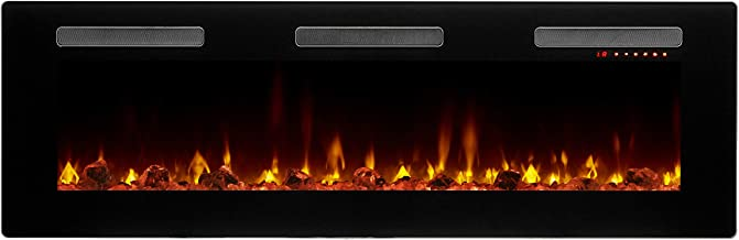 DIMPLEX Sierra Electric Fireplace, 60-INCH, Black
