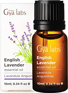 Gya Labs English Lavender Essential Oil for Sleep and Stress Relief - Topical for Breakouts, Dry Skin - Diffuse to Ease Te...