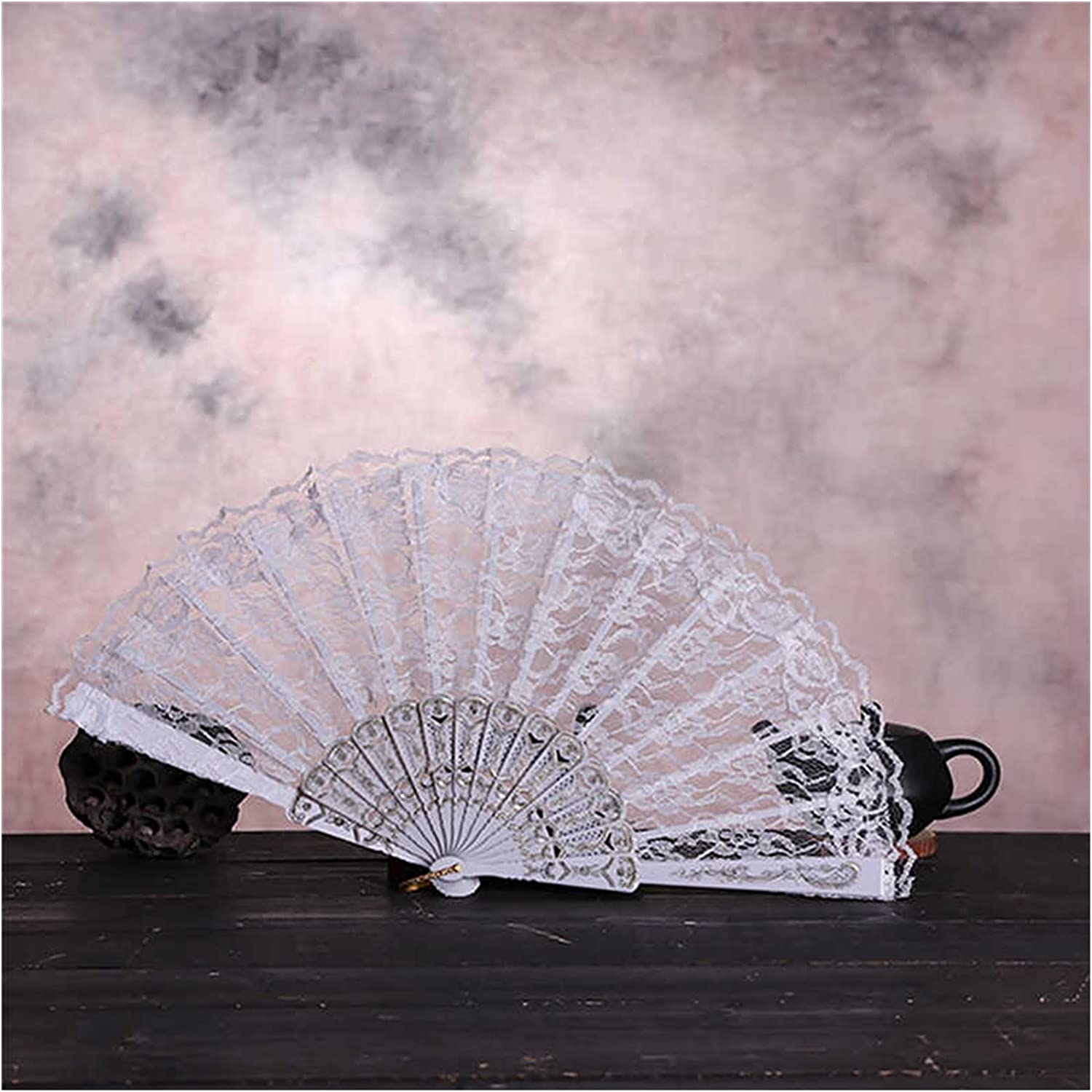 hongruida lowest price Chinese Style Decorative Bamboo 2021new shipping free shipping Silk Fabric Lace Fans