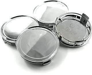 75mm Chrome Silver Car Wheel Center Hub Caps Base Set of 4