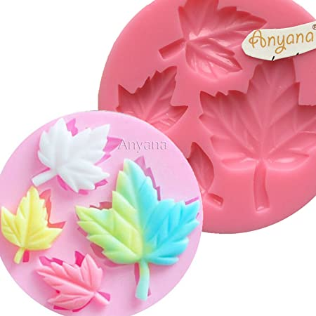 Maple Lef Flower Silicone Mold Fondant Cake Cupcake Decorating Tools Soap Mold Flexible Mold Silicone Mould