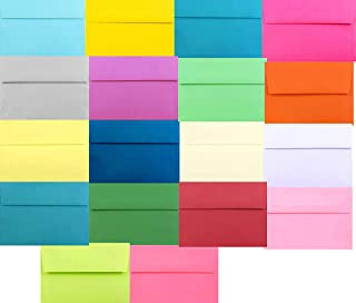 Assorted Multi Colors (50 Boxed) A7 Envelopes for 5 X 7 Cards, Invitations Announcements - Astrobrights & More from The En...