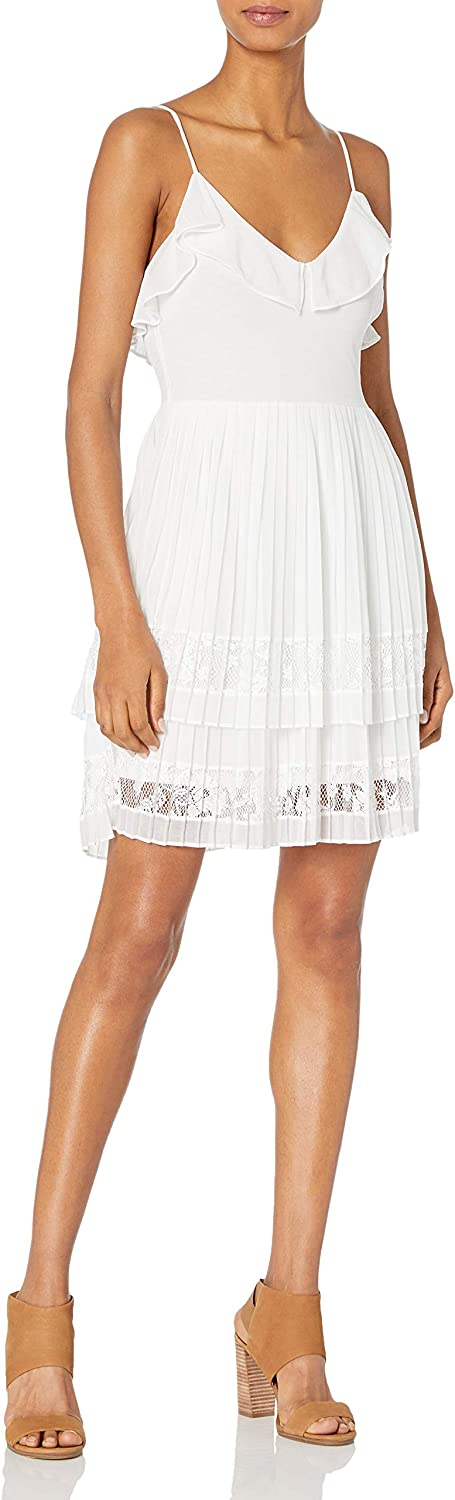 French Price reduction Award-winning store Connection Women's Adanna Lace Dress Jersey Pleat