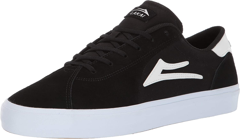 Lakai Unisex's Footwear Flaco II Black SUEDESize 5 Tennis shoes, Suede, 5 M US