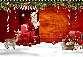 Photography Background Vinyl 10x8ft Christmas Theme Snow Scene Santa Claus Pattern Backdrop Studio Props Merry Christmas