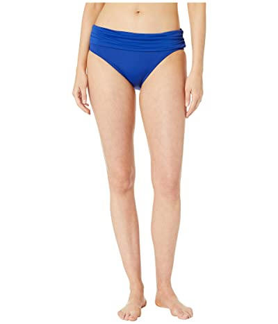 La Blanca Island Goddess Wide Shirred Banded Hipster Bottoms (Blueberry) Women