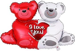 Hugging Bear Balloon | Large 23 Inch Teddy Bear Foil Balloon for Love, Valentines Decorations, Anniversary, weddings, enga...