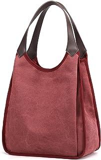 Travistar Schultertasche Damen Handtasche Groß Canvas Vintage Damen Umhängetaschen, Segeltuch Mädchen Shopper Tasche Henke...