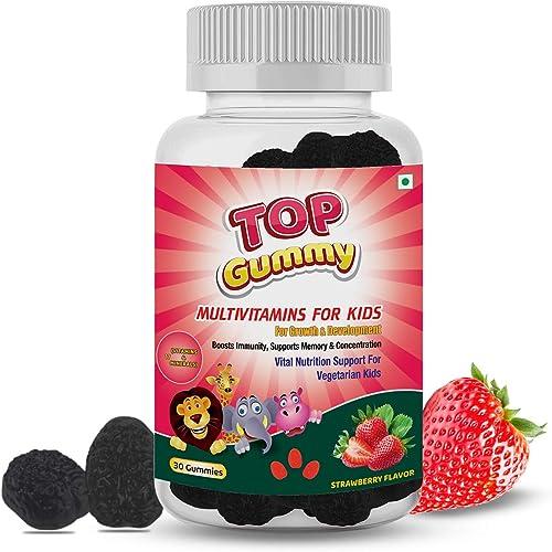 Top Gummy Multivitamins For Kids With 16 Vitamins Minerals Kids Growth Development Immunity Kids Health Gluten Soy Dairy Free 30 Gummies Strawberry Flavor
