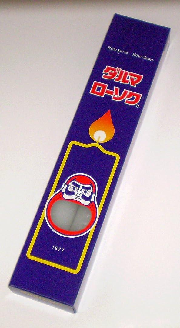 コマースオーバーラン検査東海製蝋のろうそく ダルマ 50号2本入375g