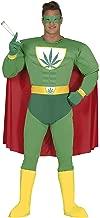 Guirca- Disfraz adulto superhéroe marijuana, Talla 52-54 (88276.0)