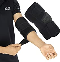 Vive Elbow Brace - Tennis Compression Sleeve - Wrap for Golfers, Bursitis, Left or Right Arm - Tendonitis Support Strap for Golf, Men and Women - Epicondylitis and Sports Recovery