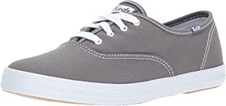 Keds Women's Champion Original Canvas Lace-Up Sneaker, Graphite, 8 W US