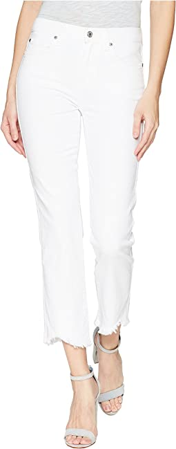 7 For All Mankind Edie w/ Wave Hem in White Fashion