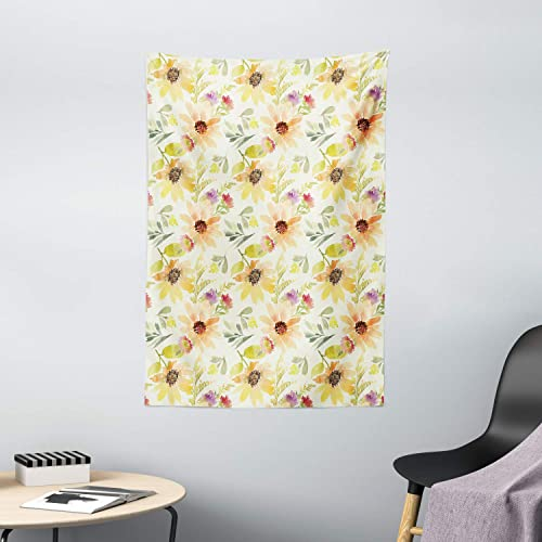 Shine Sunflower Print Tapestry Home Decorative Wall Hanging Tapestry Room Decor