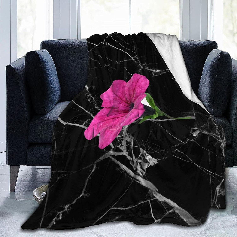 Dark Pink Flower Fleece Blanket for Cozy Max 68% OFF Th Plush Branded goods Sofa Soft Bed