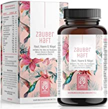 Haar Vitamine - 375mg Silizium hochdosiert & Biotin Zink Selen für Haare - Kieselsäure aus Bambus, Kupfer, Iod, Sägepalme,...