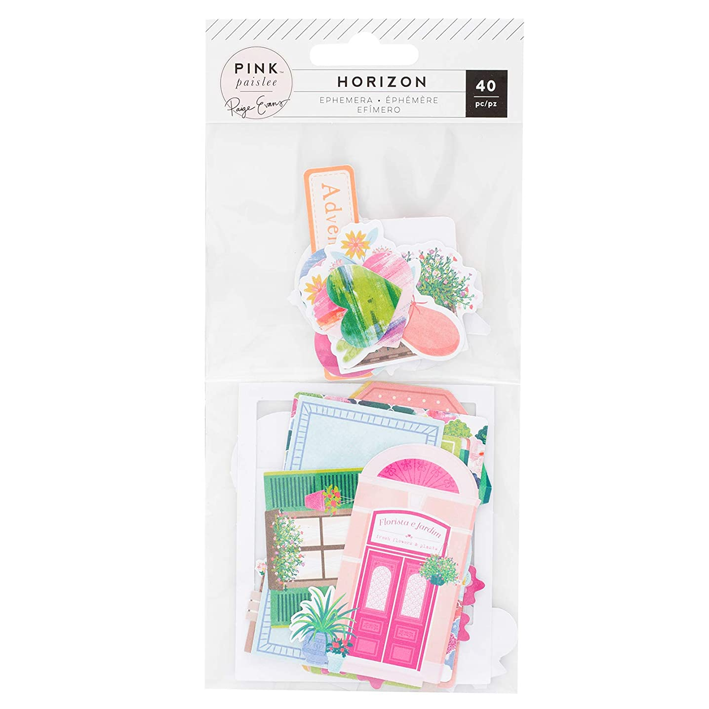 Pink Paislee 310783 Ephemera, Multi