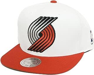 Portland Trailblazers Mitchell & Ness White Team Logo Snapback Hat