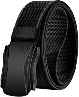 Mens Belt,Kemisant Military Tactical Stretchable Nylon Belt For Men Sport Work Protective Pants Jeans,Easy Replaceable