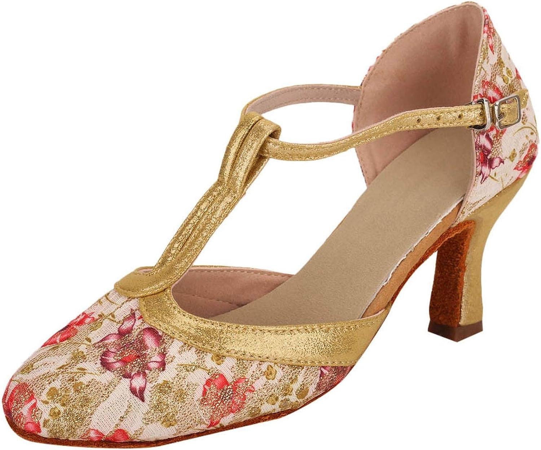 Heels Sandals Ankle Strap Women Fashion Floral Party shoes Ladies Sandals
