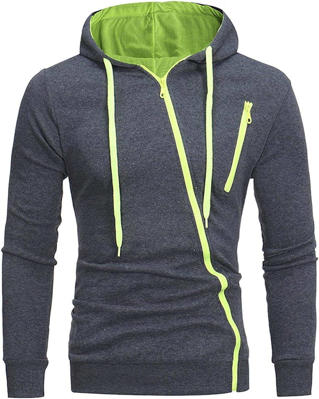 Hoodies for Mens Mens's Casual Pocket Zipper Coat Slim-fit Hooded Long-sleeve Cardigan Sweater Mens Hoodies & Sweatshirt