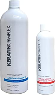 Keratin Complex Smoothing Therapy Treatment 8 oz + Clarifying Shampoo 33.8 oz