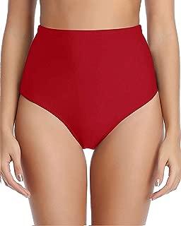 Tempt Me Women's Retro High Waisted Bikini Bottoms Tummy Control Tankini Shorts