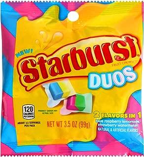 Starburst (1) Bag Duos Fruit Chews Candy - 2 Flavors in 1 - Blue Raspberry-Lemonade, Strawberry-Watermelon - 3.5 oz