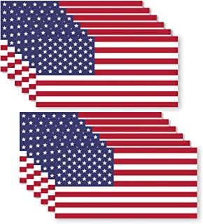 12 Pack USA American Flag Vinyl Decal Army Navy Tactical Military Country Weather-Resistant Bumper Stickers for Laptop, PC, Phone, Tablet, Baret, Helmet, Hat, Umbrella (1