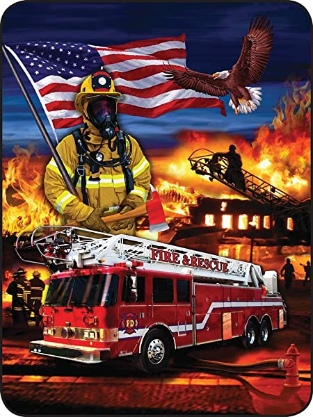 Regal Comfort Heroes On Parade Fire Fighters Throw Blanket 45 X 60