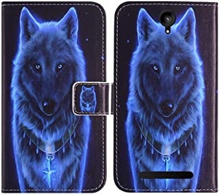 TienJueShi Wolf Book Stand Fashion Design Flip Leather Protector Case Cover Skin Etui Wallet for Logicom B bot 550 5.5 inch