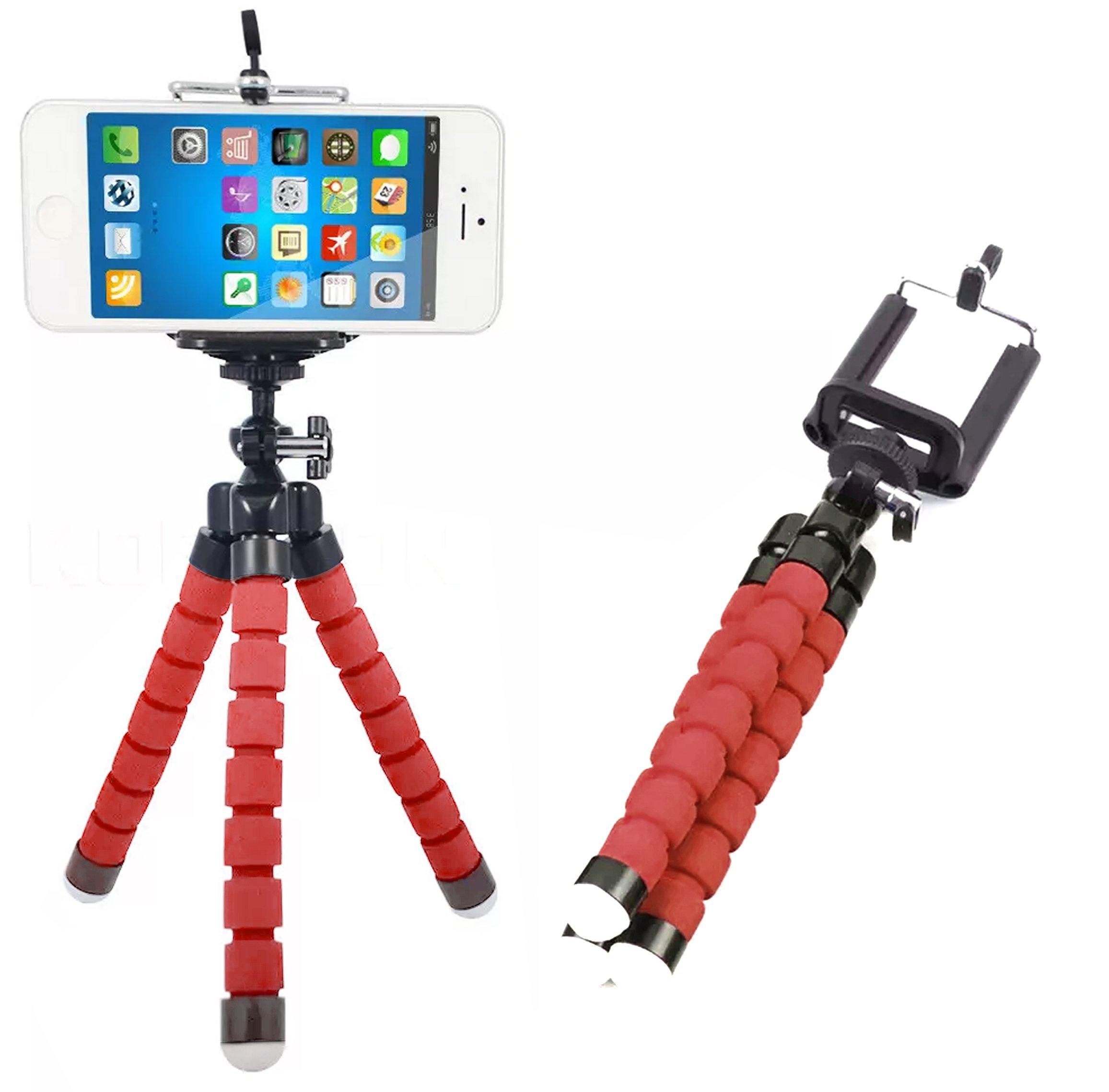 Digital CAM teléfono trípode Set: portátil y ajustable soporte de cámara soporte con Bluetooth remoto y Clip Universal para cualquier smartphone Cam y Go Pro, Self temporizador para selfie, dobla y gira: