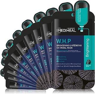 MEDIHEAL Official, W.H.P Brightening & Hydrating Charcoal Mask, No.1 Korean Sheet Mask Brand (10 Masks)