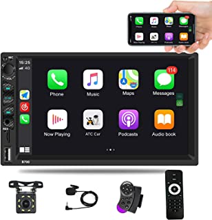 """$89 » Car Stereo with Apple Carplay, Double Din Car Radio 7"""" HD Touch Screen Auto Radio Car MP5 Player with Bluetooth FM Mirror ..."""