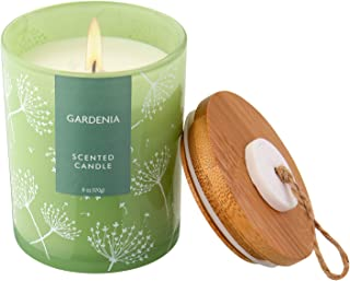 Floral Candles Essential Oils Gifts for her Gifts for Mom Gardenia Rain Vegan Soy Wax Candle